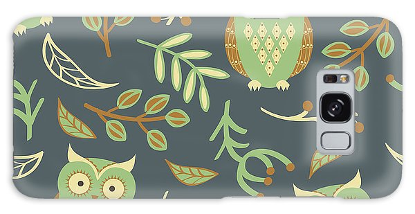 Wrap Galaxy Case - Vector Seamless Pattern With Cute Owls by Eireen Z