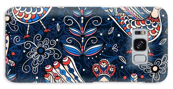 Mythology Galaxy Case - Vector  Seamless Pattern With Folk by Anna Paff