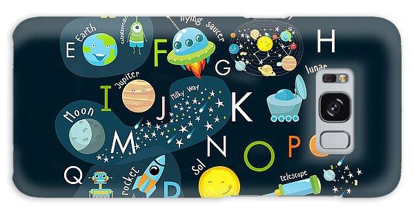 Milky Way Galaxy Case - Vector Space Alphabet by Olga Utchenko