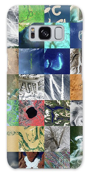 Earth From Space Galaxy Case - Earth Alphabet by Delphimages Photo Creations