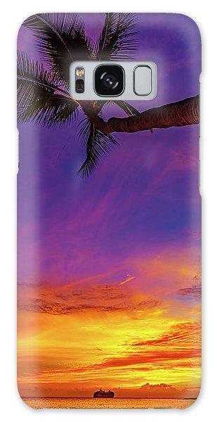 Vibrant Kona Inn Sunset Galaxy Case
