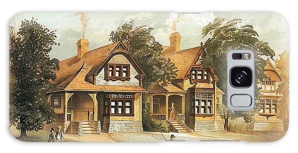 Galaxy Case - Victorian Houses 19th Century And Horse Carriage by Zal Latzkovich