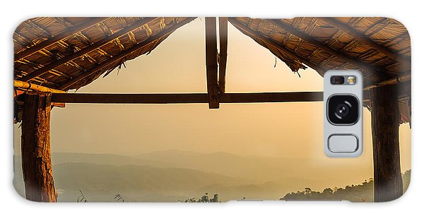 Cottage Galaxy Case - View From The Hut In Morning by Latthaphon Rodrattanachai