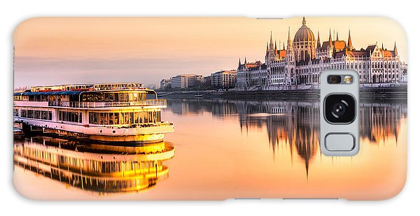 England Galaxy Case - View Of Budapest Parliament At Sunrise by Luciano Mortula - Lgm