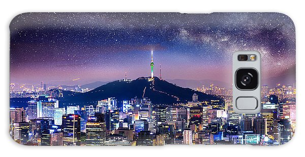 Destination Galaxy Case - View Of Downtown Cityscape And Seoul by Guitar Photographer