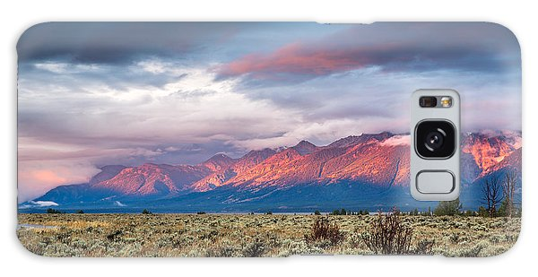 Teton Range Galaxy Case - View Of Grand Teton Mountain Range At by Victor Maschek