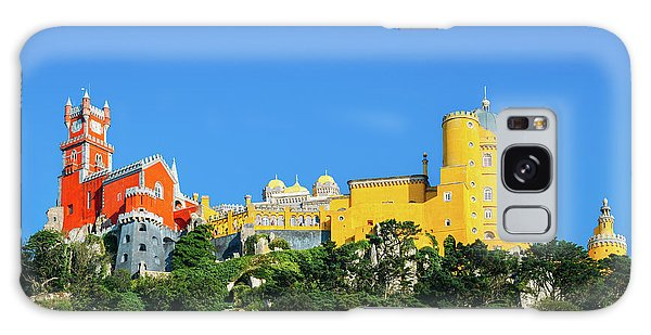 View Of Pena National Palace, Sintra, Portugal, Europe Galaxy Case