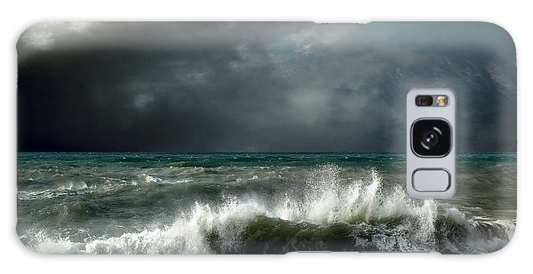 Wind Power Galaxy Case - View Of Storm Seascape by Andrey Yurlov