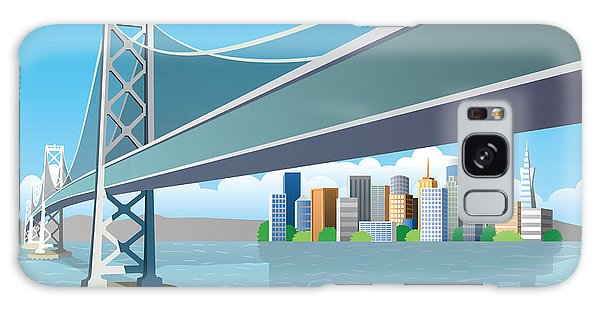 Cloudscape Galaxy Case - View Of The City From The Sea by Nikola Knezevic
