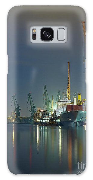 Scenery Galaxy Case - View Of The Quay Shipyard Of Gdansk by Nightman1965