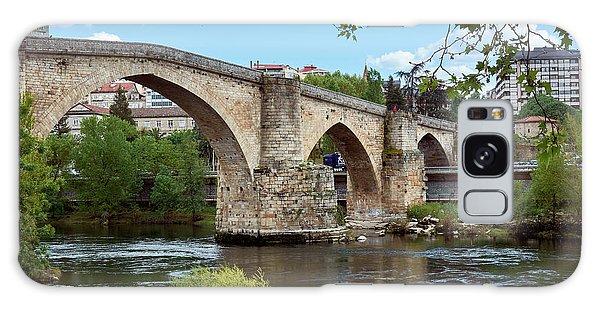 View Of The Roman Bridge And The Minho River Galaxy Case