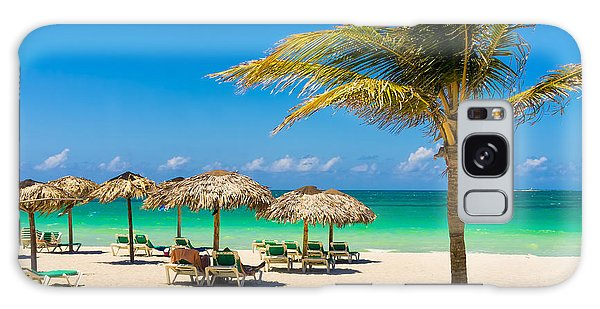 Parasol Galaxy Case - View Of Varadero Beach In Cuba With A by Kamira