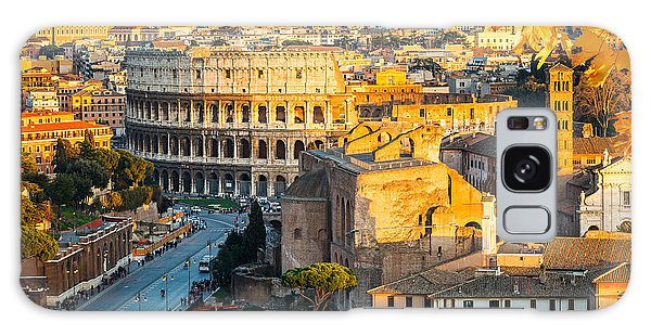 Dusk Galaxy Case - View On Colosseum In Rome, Italy by S.borisov