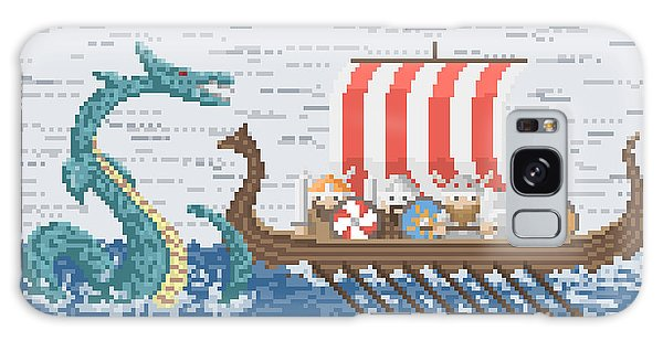 Mythology Galaxy Case - Vikings Battle With The Sea Dragon by Wild Wind