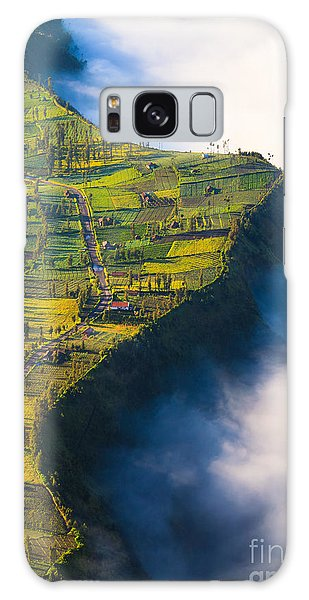 Cloudscape Galaxy Case - Village Near  Cliff At Bromo Volcano In by Lkunl