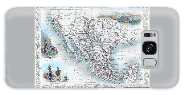 Vingage Map Of Texas, California And Mexico Galaxy Case