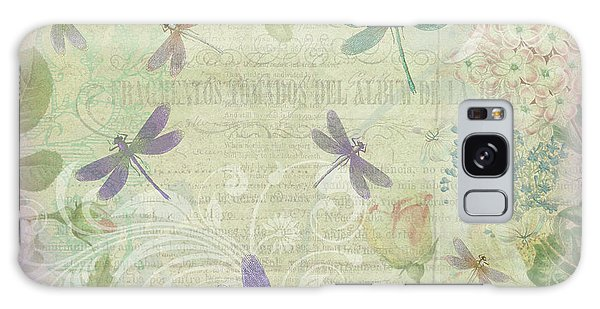 Vintage Botanical Illustrations And Dragonflies Galaxy Case