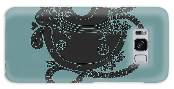 Physical Galaxy Case - Vintage Driving Suit With Abstract by Maria Sem