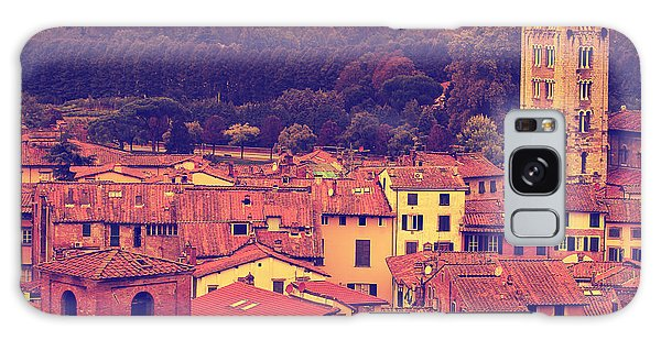 Brick House Galaxy Case - Vintage Image Of Lucca At Sunset, Old by Elenamiv