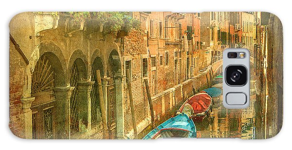 Scenery Galaxy Case - Vintage Image Of Venetian Canals by Javarman