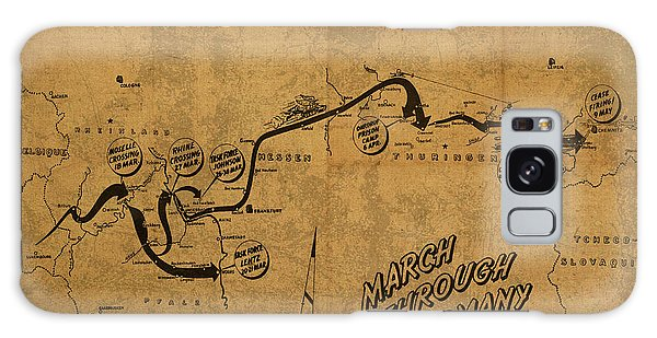 March Galaxy Case - Vintage Map Of 355th Regiment March Through Germany by Design Turnpike