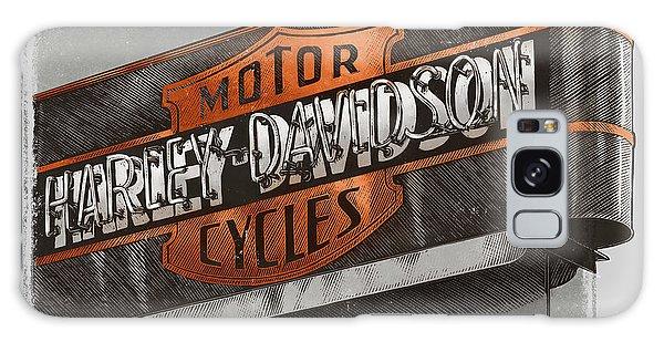 Vintage Motorcycle Shop Galaxy Case
