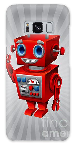 School Galaxy Case - Vintage Robot by Scott Bartlett