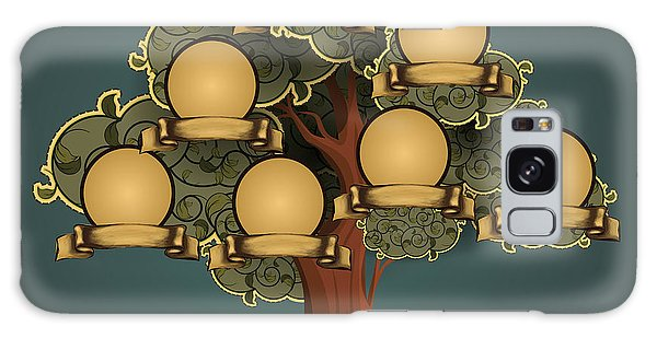 Two People Galaxy Case - Vintage Style Family Tree Design by Blackspring