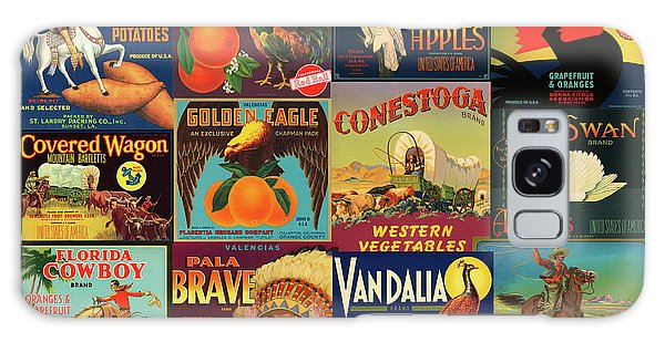 Vintage Western Theme Fruit And Vegetable Crate Labels Galaxy Case