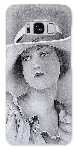 Vintage Woman In Brim Hat Galaxy Case