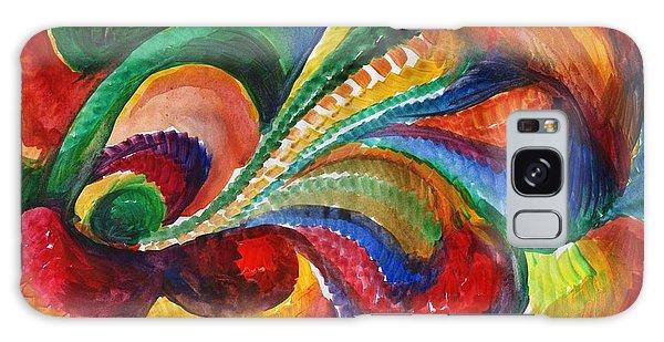 Vivid Abstract Watercolor Galaxy Case