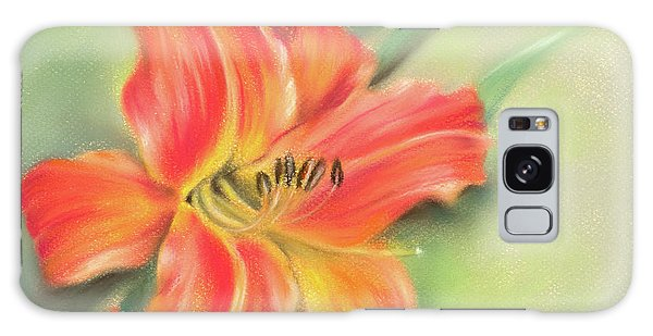 Vivid Orange Daylily Galaxy Case