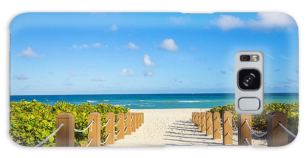 Seashore Galaxy Case - Walkway To Famous South Beach, Miami by Mia2you