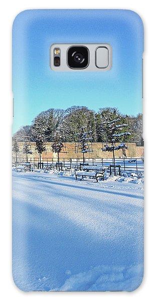 Walled Garden Winter Landscape Galaxy Case