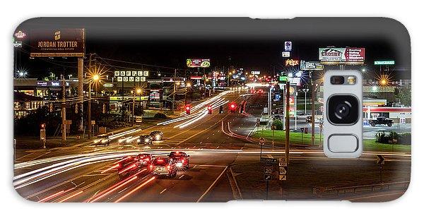Washington Road At Night - Augusta Ga Galaxy Case