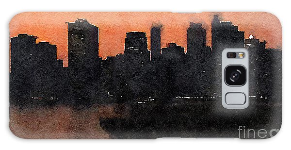 Reflections Galaxy Case - Water Color New York City Scene by Trentemoller