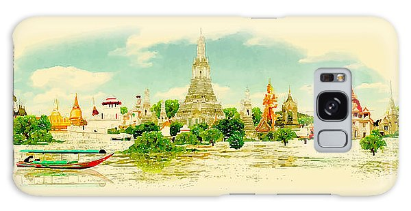 Reflections Galaxy Case - Water Color Vector Panoramic Bangkok by Trentemoller