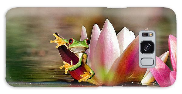 Water Lily And Frog Galaxy Case