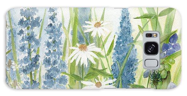 Watercolor Blue Flowers Galaxy Case