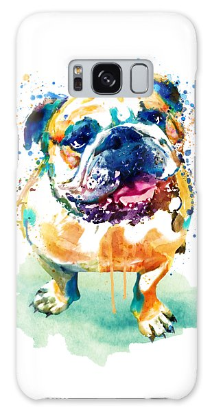 Watercolor Pet Portraits Galaxy Case - Watercolor Bulldog by Marian Voicu