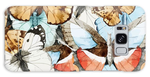 New Trend Galaxy Case - Watercolor, Butterfly, Pattern by Anastasia Lembrik