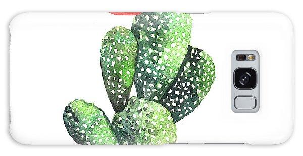 Desert Flora Galaxy Case - Watercolor Cactus. Original Watercolor by Yudina Anna