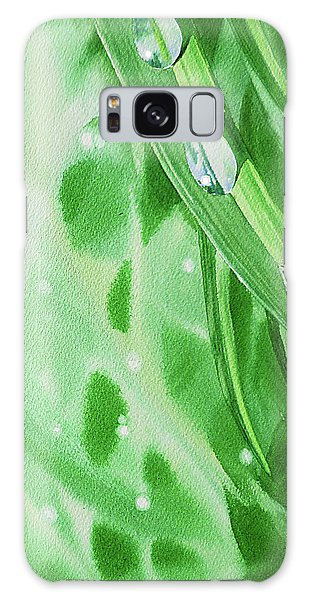 Hyper-realistic Galaxy Case - Watercolor Dew Drops by Irina Sztukowski