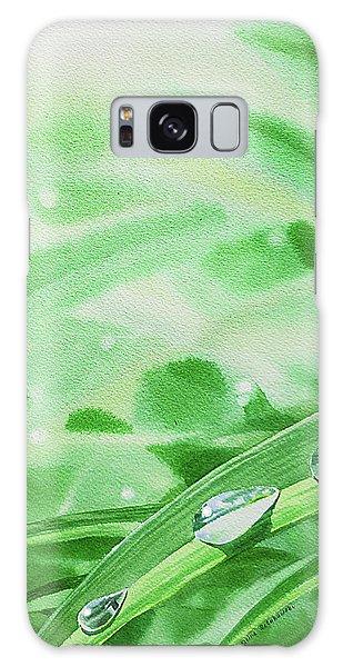 Hyper-realistic Galaxy Case - Watercolor Realism Morning Dew Drops by Irina Sztukowski