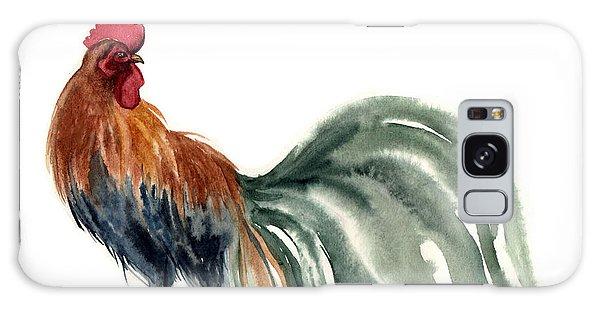 Ecology Galaxy Case - Watercolor Rooster. Farm Animals by Tatyana Komtsyan