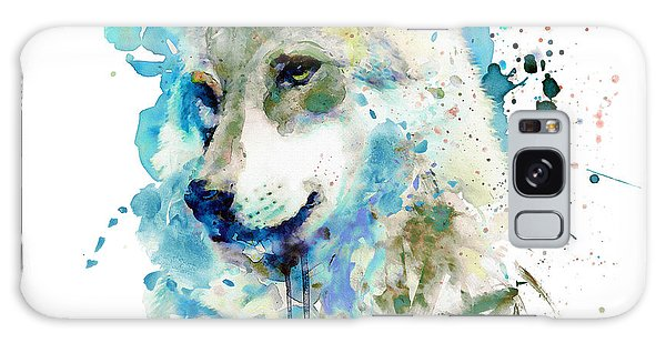 Beast Galaxy Case - Watercolor Wolf Portrait by Marian Voicu