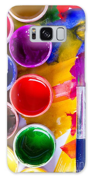 Bright Colors Galaxy Case - Watercolors And Brushes by Vorobyeva