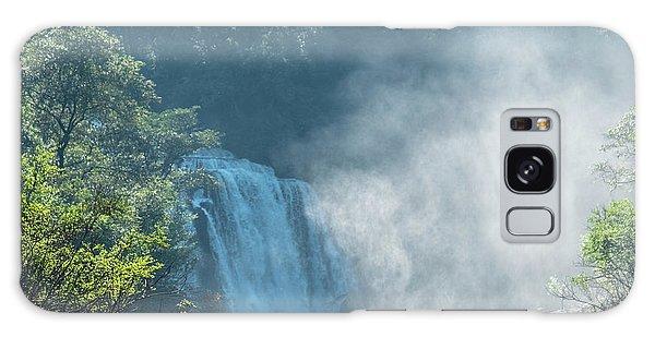 Waterfall, Sunlight And Mist Galaxy Case