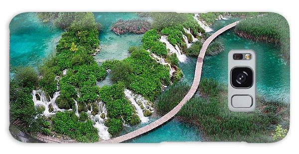 Travel Destinations Galaxy Case - Waterfalls In Plitvice National Park by Evgeniya Moroz