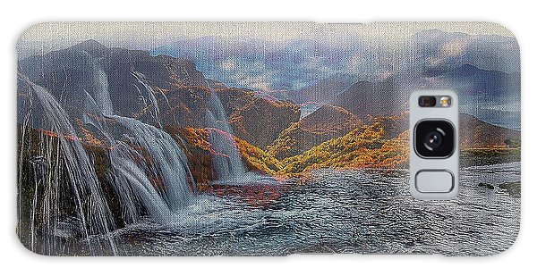 Waterfalls In The Mountains Galaxy Case